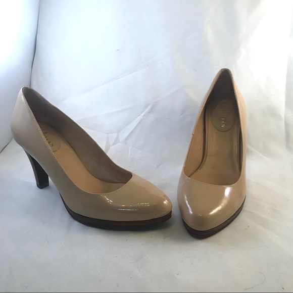 3449011d8 Cole Haan Shoes | Nike Air Patent Leather Nude Pumps Heels | Poshmark